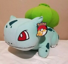 "2017 Large Bulbasaur Plush Toy Factory Licensed Pokemon 17""x15""x12"" - $48.45"