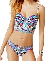Kenneth Cole Underwire Strappy Bikini Crop Bra Bandeau Swimsuit Top & Bo... - $104.00