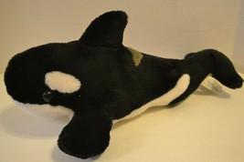 "Sea World Orca Whale Stuffed Plush Shamu 16"" Black White - $10.19"