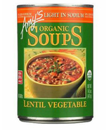Amy's Organic Lentil Vegetable Soup, 14.5 oz Can, Case of 12 vegan, Low ... - $56.99