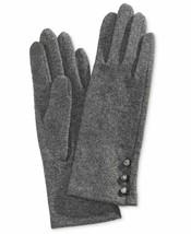 Ralph Lauren Logo-Button Touch Gloves Wool/nylon/cashmere (Gray, L) - $37.50