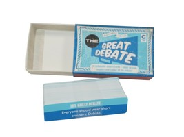 The Great Debate Trivia Matchbox Card Toy Game 2012 - Missing 1 Card - $11.88