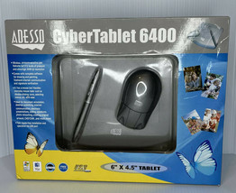 """Adesso CyberTablet 6400 6"""" X 4.5"""" Graphics Tablet w/ 2 Button Pen Wireless Mouse - $29.65"""