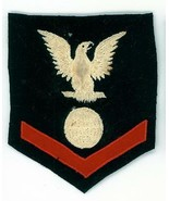 WWII, U.S.N. RATING, PETTY OFFICER, 3rd CLASS, ELECTRICIAN, RIGHT FACING... - $7.87