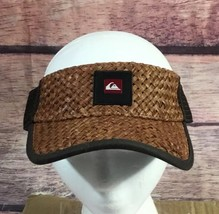quicksilver visor hat brown straw one size fits all NWT - $21.51