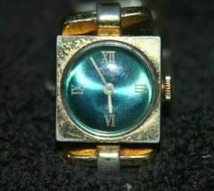 Vintage Trifari 17 Jewels Watch on Gold Tone Link Bracelet Germany on Ba... - $24.00