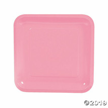 Pink Paper Square Dinner Plates, Set of 18, Choose from 18 colors - $13.14