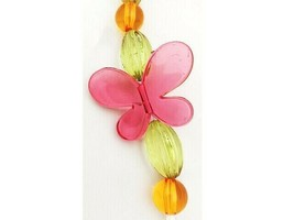 Acrylic Colorful Butterfly, Oval and Round Bead Strand 12 Inches image 2
