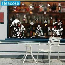Creative Christmas Tree Snowman Snowflake Sticker Window Glass Xmas Deco... - $6.89