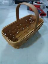 Longaberger Basket Small Fixed Handle Rectangular - 2004 - $7.31