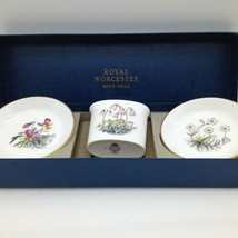 Lot of 3 Vintage ROYAL WORCESTER Fine China Floral Trinket Dish Tray Cup... - $14.55