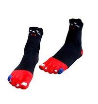 George Jimmy Soft Tube Cartoon Toe Scoks Cotton Home Socks - £11.74 GBP