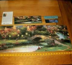 Jigsaw Puzzle 700 Pieces Panoramic Thomas Kinkade Art Lamplight Village ... - $13.85