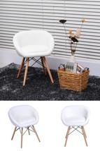 White Faux Leather Chair Soft Seat Backrest Armrest Dining Living Room L... - €79,43 EUR
