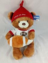 Baby Gund Little All Pro Football Bear Rattle Plush 4050502 Stuffed Anim... - $9.95