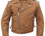 Brown leather motorcycle jacket ckb2015 thumb155 crop