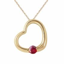 14 Karat Gold Heart w/ Natural Ruby Pendant - $393.30