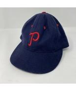 Ebbets Field Philadelphia Phillies Fitted Baseball Hat Size 6 7/8 - $19.79