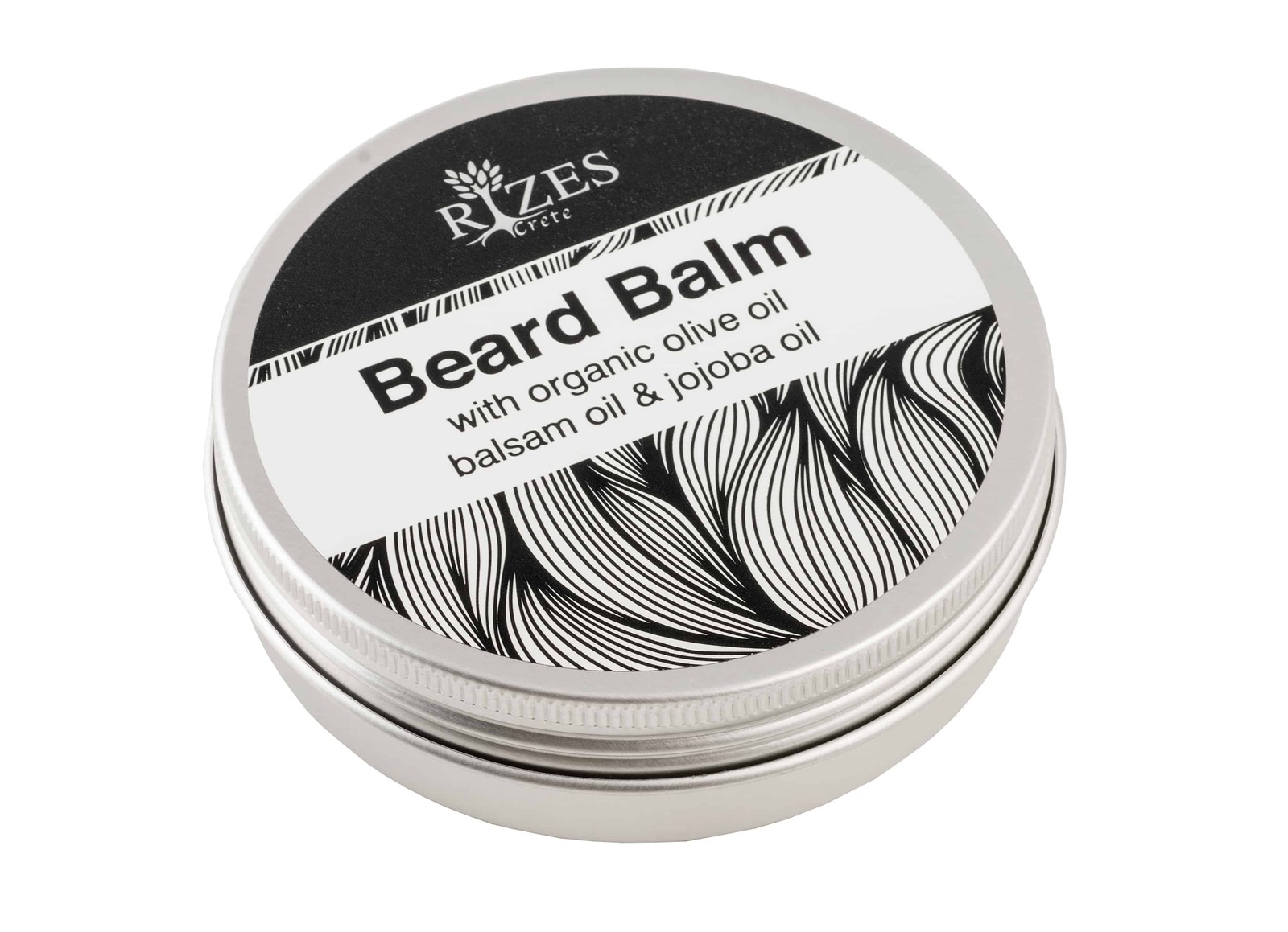 Beard balm with organic olive oil balsam oil and jojoba oil
