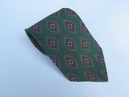 """Giorgio Armani Cravatte Pure Silk Tie Vintage Green & Rust 55"""" Long 4"""" Wide - $33.85"""