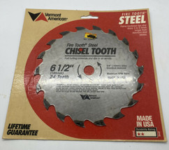 Circular Saw Blade 6.5 Inch Chisel Tooth Vermont American Firetooth Made in USA - $13.23