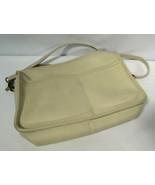 Coach Ivory Leather Top Zipper Handbag Purse Shoulder Cross Body No. 209... - $49.49