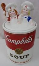 Campbell Soup Kids Cookie Jar 1998 Benjamin Medwin Collectible Cookie Jar - $24.74