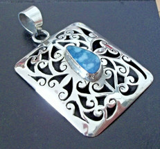 """925 Sterling Silver MULTI-COLOR Opal Pendant 2"""" (Assayed In The Uk) - $79.13"""