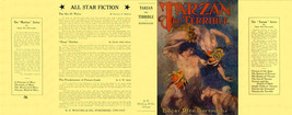 Edgar Rice Burroughs TARZAN THE TERRIBLE facsimile jacket for McClurg ed... - $21.56