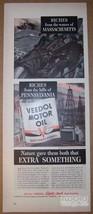 Veedol Motor Oil '40s PRINT AD fishermen derrick illustrated Penn PA 1940 - $11.64