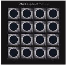 Total Eclipse of the Sun USPS Limited Edition Forever Stamps Full Sheet ... - $17.50
