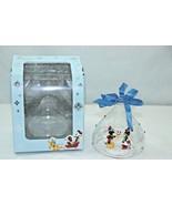 Disney Store Mickey & Minnie Mouse Sketchbook Glass Christmas Ornament 2... - $43.55