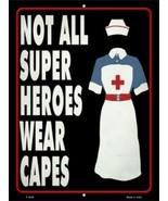 "Nurse Superhero Novelty Metal Sign 9"" x 12"" Wall Decor - DS - $23.95"