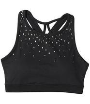 GAIAM Women's Black Dotty Fade Print Bralette Sports Bra Medium Support ... - $13.85