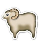 Emoji Sheep shaped vinyl sticker 100mm or 150mm farming wool bovidae bov... - $3.00+