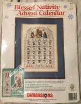 Dimensions Blessed Nativity Advent Calendar Cross Stitch #8416 - Opened - $28.04
