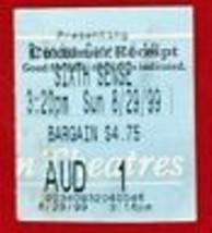 1999 Sixième Sens Film Théâtre Ticket Stub Bruce Willis U.S.A - $8.36
