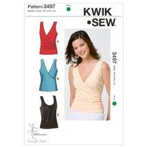 Kwik Sew K3497 Tops Sewing Pattern, Size XS-S-M-L-XL - $10.38