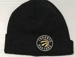 Men's Toronto Raptors New Era Gold Raised Cuff Knit Beanie Toque One Size - $8.91