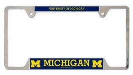Michigan Wolverines Heavy Duty Chrome Metal License Plate Frame - $13.95