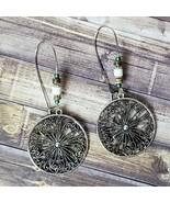 Silver Beaded Boho Earrings Dangle Festival Bohemian Fashion Jewelry Gift  - $14.99