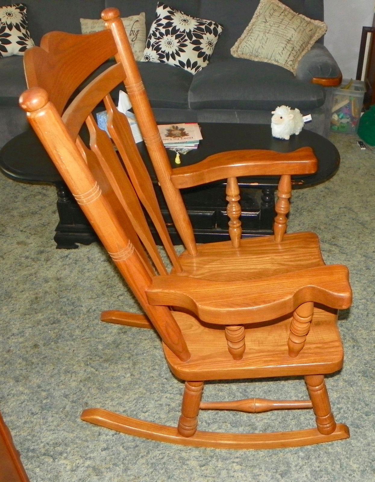 Solid Oak Rocker / Rocking Chair