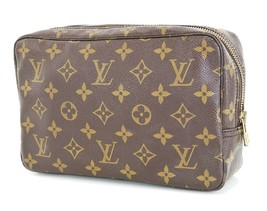 Authentic LOUIS VUITTON Trousse Toilette 23 Monogram Cosmetics Pouch Bag... - $249.00