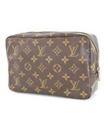 Authentic LOUIS VUITTON Trousse Toilette 23 Monogram Cosmetics Pouch Bag... - $249.00