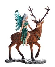 Decorative Companion Fairy Ayala with Stag Collectible Decorative Statue 9.5H - $72.07