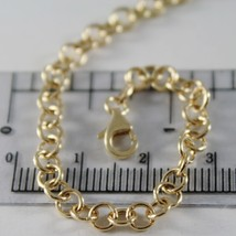 SOLID 18K YELLOW GOLD CHAIN 23.60 IN, ROUND CIRCLE ROLO LINK, 4 MM MADE IN ITALY image 2