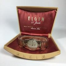 Vintage Elgin 10k Rolled Gold Plate Self Winding 27 Jewel Watch Parts Re... - $94.25