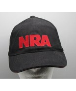 NRA Baseball Cap Black w Red Stand and Fight Stars Strips on Brim w Tag - $9.89
