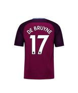 new DE BRUYNE #17 Manchester city 2017 2018 17 18 away Men Jersey - $26.98