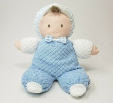 "10"" VINTAGE EDEN BABY BLUE & WHITE BOY DOLL BROWN HAIR STUFFED ANIMAL PL... - $101.92"